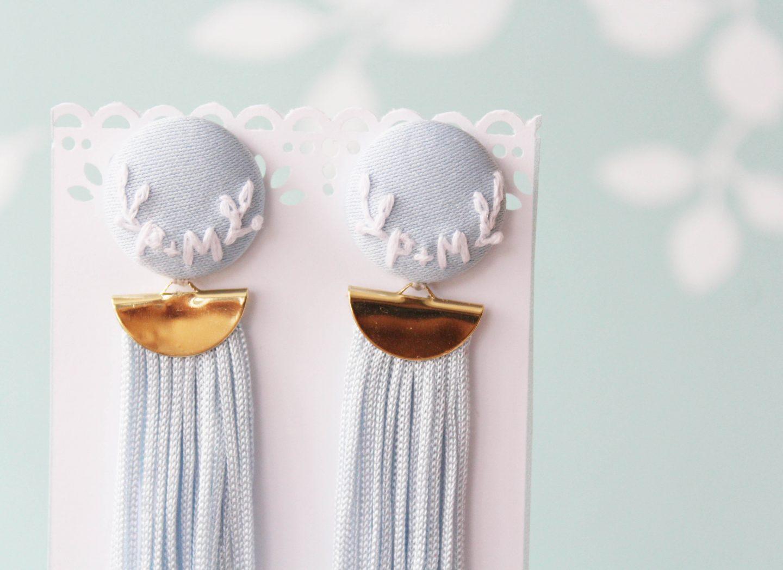 Svadobné náušnice s iniciálkami